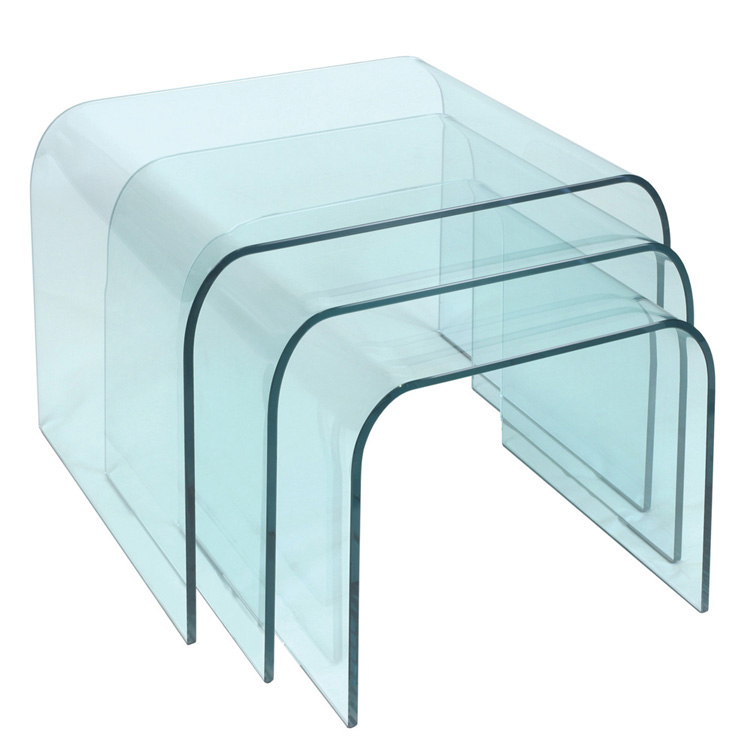 Glass nest of tables contemporary glass furniture image 1 watchthetrailerfo