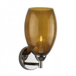 Heathfield Curzon Amber & Nickel Wall Light