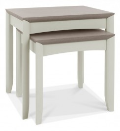 Bergen Washed Oak & Soft Grey Nesting Tables