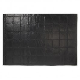 Leather Rug - Sleek Black