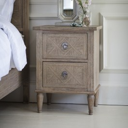 Mustique 2 Drawer Bedside Table Hudson Living