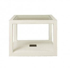 White Lacquer Cube Table