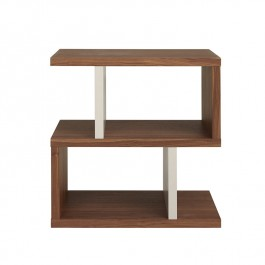 Conran Counter Balance Side Table Walnut and Pebble