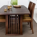 Skovby Walnut Extending Dining Table #19 (lifestyle, closeup)