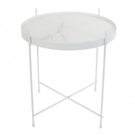Cupid Marble White Side Table Zuiver