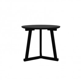 Ethnicraft Oak Tripod Large Side Table - Blackstone