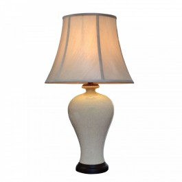 Pair of Oriental Table Lamps - Apricot Mosaic