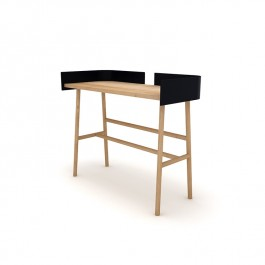 Oak Black Desk B