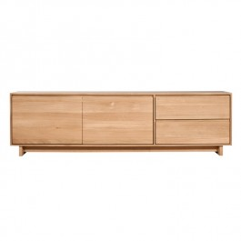 Ethnicraft Low Oak Sideboard TV Media Unit Wave