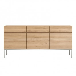 Ethnicraft Oak Sideboard Ligna 3 Door