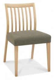 Bergen Pair of Oak Low Back Dining Chairs
