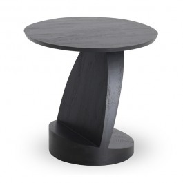 Ethnicraft Oblic Black Teak Side Table