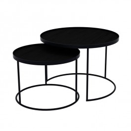 Notre Monde Nesting Tray Tables Low