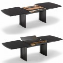 Skovby Black Wenge Extending Dining Table #19 (extension mechanism)