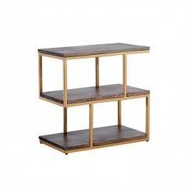 Conran Side Table Wood/Brass