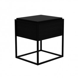 Ethnicraft Black Oak Side Table Medium Monolit