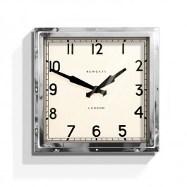 Newgate Deco Quad Wall Clock Chrome