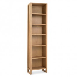 Tall Oak Single Bookcase - Studio