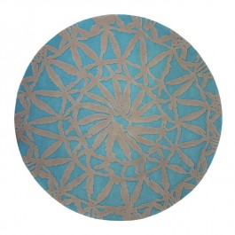 Blue Patterned Rug - Oriental Lounge