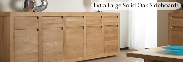 Extra Large Oak Sideboards Solid Wood Furniture Ethnicraft