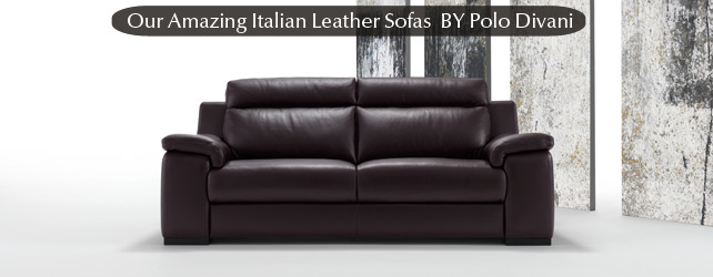 Polo Divani Italian Leather Sofas  Contemporary Leather ...