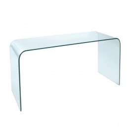 Glass Console Table - Arc