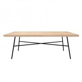 Oak Rectangluar Coffee Table Disc
