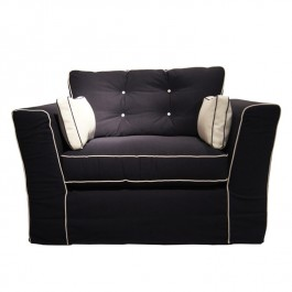 Contemporary Navy Armchair Or Sofa