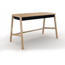 Oak Black Desk Verso