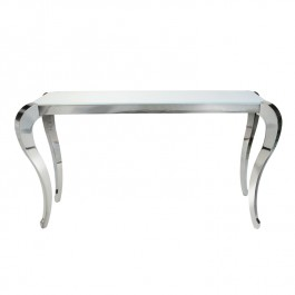 Glass & Steel Console Table - Moulin