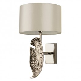 Heathfield Nickel Wall Light Leaf