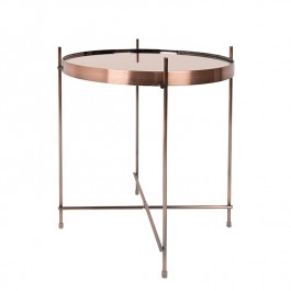 Copper Round Side Table
