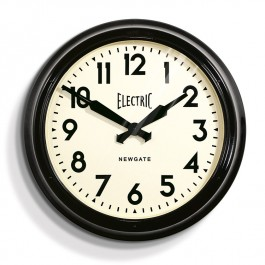 Newgate Giant Black Retro Wall Clock Electric