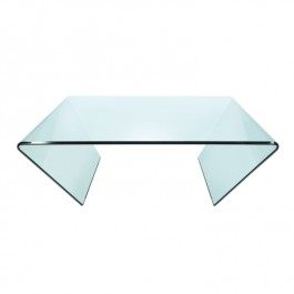 Square Glass Coffee Table - Curvo