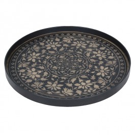 Notre Monde Black Marrakesh Tray