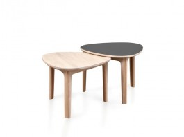 Sofabord Coffee Table in White Oiled Oak & Nano Black- Skovby 207
