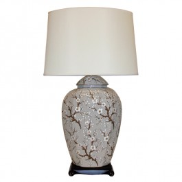 Oriental Table Lamp White Blossom
