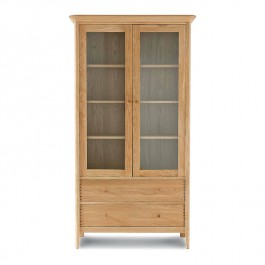Oak Wide Display Cabinet Spirit