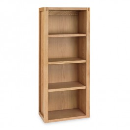 Narrow Oak Bookcase - Studio