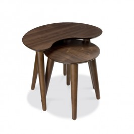 Walnut Nest of Side Tables - Oslo