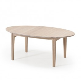 Skovby White Oiled Oak Extending Dining Table #78