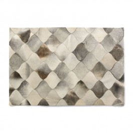 Leather Hide Rug - Grey