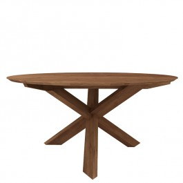 Ethnicraft Round Teak Dining Table