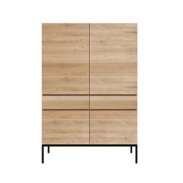 Ethnicraft Oak Storage Cabinet Ligna Black