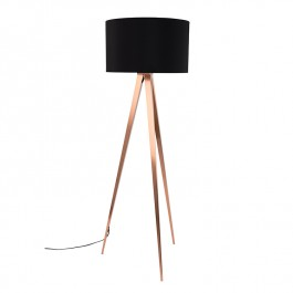 Tripod Copper Floor Lamp Zuiver