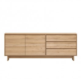 Ethnicraft Oak Sideboard Wave 2 Door