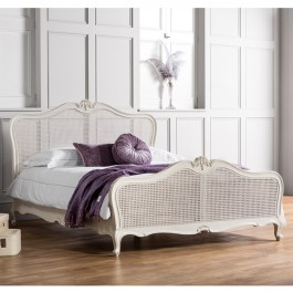 Frank Hudson Chic Cane Chalk Bed