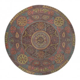 Multicolour Patterned Rug - Mandala