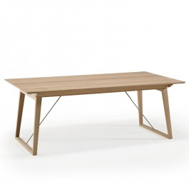 Skovby White Oiled Oak Extending Dining Table #38