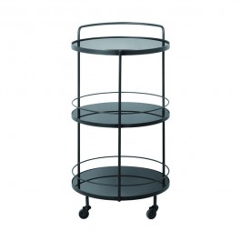 Notre Monde Lucy Charcoal Bar Cart